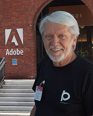 Bruce at Adobe Headquarters in San Francisco